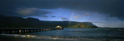 Rainbow over the Sea, Hanalei, Kauai, Hawaii, USA--Photographic Print