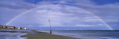 Rainbow over the Sea, Portobello, Edinburgh, Scotland--Photographic Print