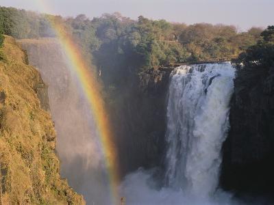 Rainbow Over Victoria Falls--Photographic Print