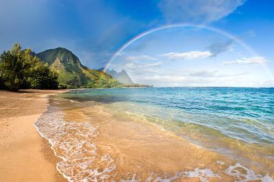 Rainbow Paradise Beach-M Swiet Productions-Photographic Print