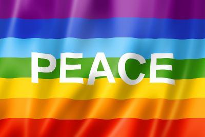 Rainbow Peace Flag-daboost-Art Print