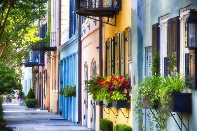 Rainbow Row I, Charleston South Carolina-George Oze-Photographic Print