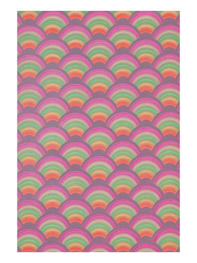 Rainbow Scales Pattern--Art Print
