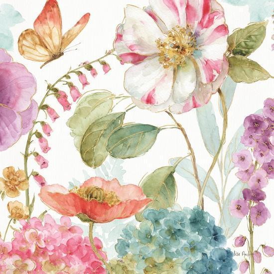 Rainbow Seeds Flowers II-Lisa Audit-Art Print