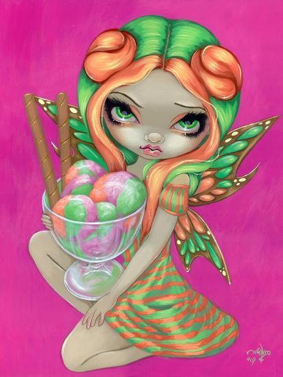 Rainbow Sherbet Fairy-Jasmine Becket-Griffith-Art Print
