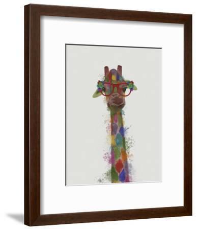 Rainbow Splash Giraffe 3-Fab Funky-Framed Art Print