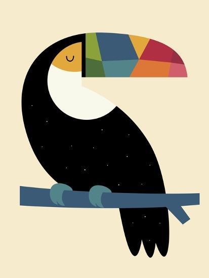 Rainbow Toucan-Andy Westface-Giclee Print