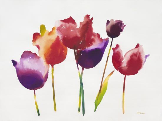 Rainbow Tulips 1-Paulo Romero-Art Print
