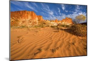 Rainbow Valley Colourful Rock Formation With
