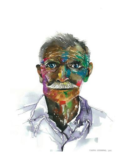 RainbowMan-Claudia Libenberg-Art Print