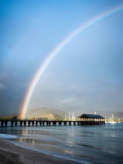 Rainbows at Hanalei II-Daniel Burt-Photographic Print