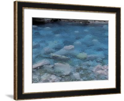 Raindrops on the Surface of a Flowing River--Framed Photographic Print
