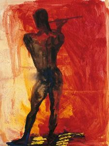 Man with Flute by Rainer Fetting