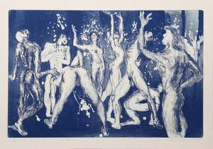 Shower (Blue) by Rainer Fetting