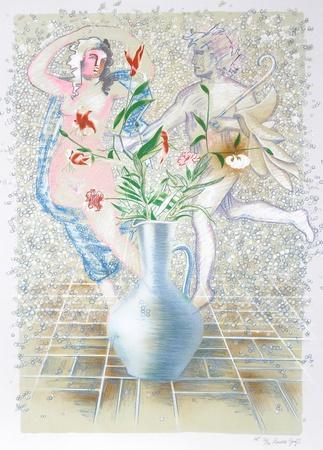 Lillies, Carnations & Stones