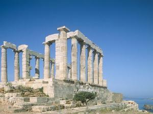 Poseidon Temple in the Sounion National Park, Greece, Attica by Rainer Hackenberg