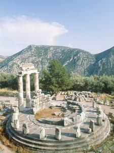 Tholos of the Athena Pronaia in Delphi, Greece by Rainer Hackenberg