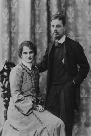 Rainer Maria Rilke and Clara Westhoff in Rome, 1903--Photographic Print