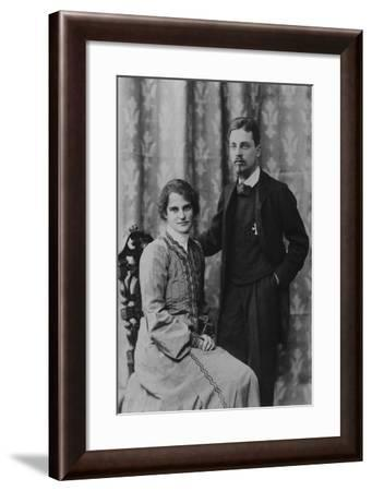 Rainer Maria Rilke and Clara Westhoff in Rome, 1903--Framed Photographic Print