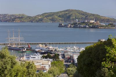 Alcatraz, Hyde Street Pier, San Francisco, California, Usa