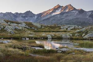 Anonymous Lake in the Grimselpass, Pizzo Gallina, the Bernese Oberland, Switzerland by Rainer Mirau