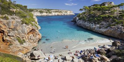Cala S'Almunia, Beach, Person, Majorca, Spain