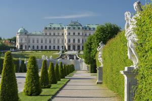 Castle Belvedere, Belvedere Garden, Vienna, Austria by Rainer Mirau
