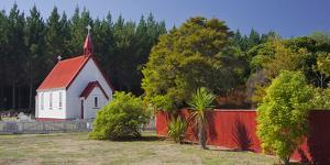 Chapel at the State Highway Number 1, Lake Taupo, Waikato, North Island, New Zealand by Rainer Mirau