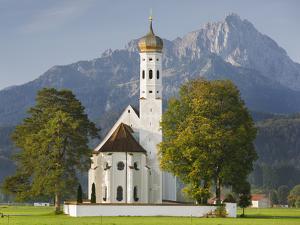 Church St Coloman, FŸssen, AllgŠu, Upper Bavaria, Bavaria, Germany by Rainer Mirau