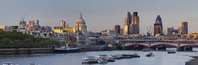 City of London, High Rises, St. Paul's Cathedral, the Thames, London, England, Great Britain by Rainer Mirau
