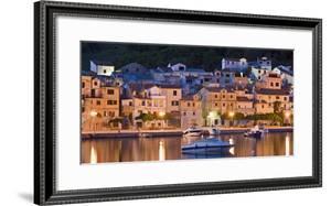 Croatia, Kvarner Gulf, Krk (Island), City of Baska, Night, Lighting, Harbour by Rainer Mirau