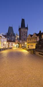 Czechia, Prague, Charles Bridge, City Gate by Rainer Mirau