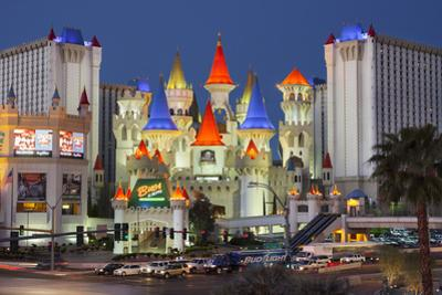 Excalibur Hotel, Strip, South Las Vegas Boulevard, Las Vegas, Nevada, Usa by Rainer Mirau