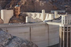 Hoover Dam, Retaining Wall, Nevada, Usa by Rainer Mirau