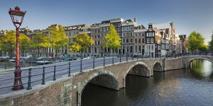 Houses Near the Keizersgracht, Reguliersgracht, Amsterdam, the Netherlands by Rainer Mirau