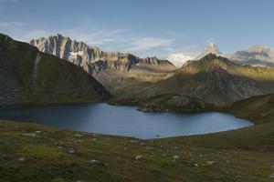 Lacs De Fen?e, Grand Golliat, Grandes Jorasses, Valais, Switzerland by Rainer Mirau