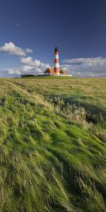 Lighthouse of Westerhever (Municipality), Schleswig-Holstein, Germany by Rainer Mirau