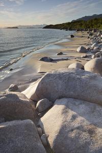 Norway, Northern Country, Lofoten, Austvagoya, Beach by Rainer Mirau