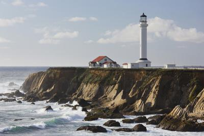 Point Arena Lighthouse and Museum, Arena Rock Marine Natural Preserve, California, Usa by Rainer Mirau