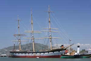 Sailing Ship T.S. Balclutha at Hyde Street Pier, San Francisco, California, Usa by Rainer Mirau