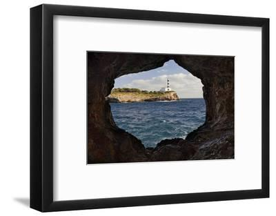 Spain, Mallorca, East Coast, Lighthouse of Portocolom, Punta De S'Homonet, Rock Hole