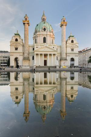 St. Charles's Church, Charles' Square, Vienna, Austria by Rainer Mirau