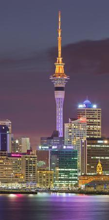 Stanley Bay, Skyline of Auckland, Sky Tower, North Island, New Zealand by Rainer Mirau