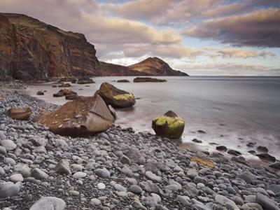 Stones on the Beach of Baja D'Abra, Sao Lourenco Peninsula, Madeira, Portugal by Rainer Mirau