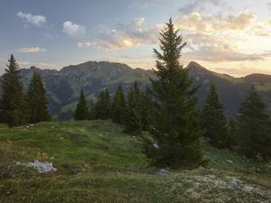 View of the Gastlosen Mountain Range in the Direction of Baderhorn, Bern, Freiburg, Switzerland by Rainer Mirau