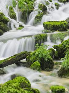 Waterfall Detail, Cirque De La Consolation, Doubs, France by Rainer Mirau