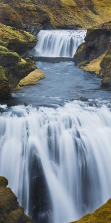 Waterfall Flow Skoga, South Iceland, Iceland by Rainer Mirau