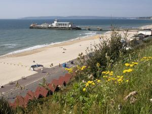 Bournemouth Pier and Beach, Poole Bay, Dorset, England, United Kingdom, Europe by Rainford Roy
