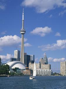 C.N.Tower and the Toronto Skyline, Ontario, Canada, North America by Rainford Roy