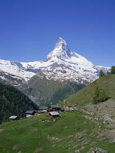 Chalets and Restaurants Below the Matterhorn in Switzerland, Europe by Rainford Roy